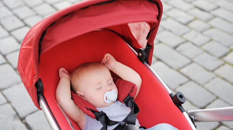 baby, stroller, sleeping