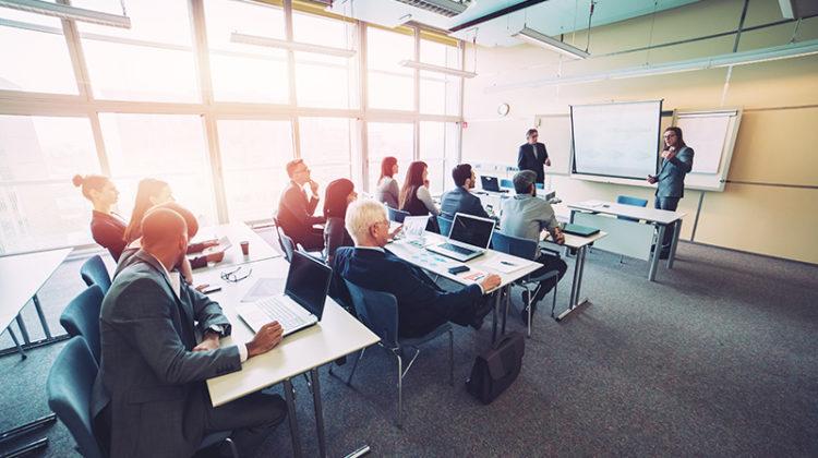 business school, class, businessmen, businesswomen, education, teaching