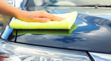 car, microfiber towel, detailing