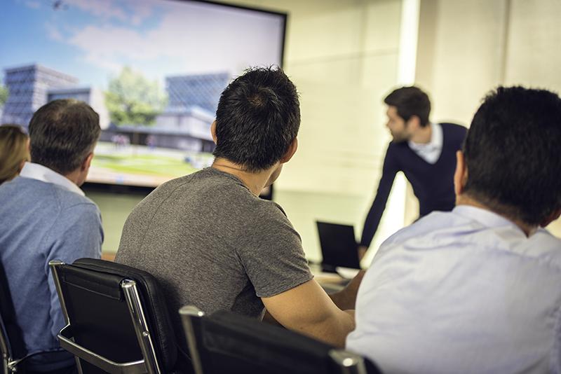 architect, planning commission hearing, presentation, site design