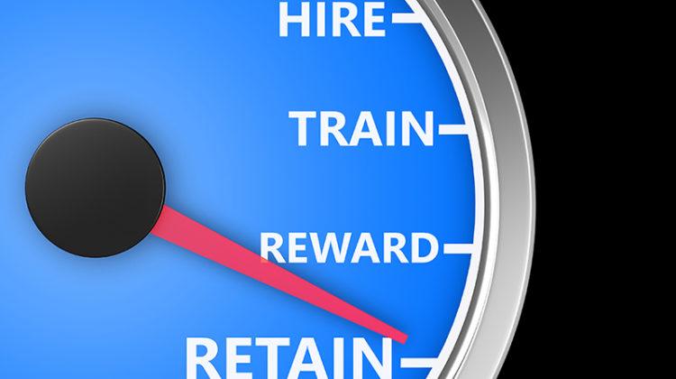 meter, hire, train, reward, retain, top employees