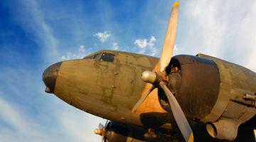 WWII bomber, airplane, historic plane, propeller