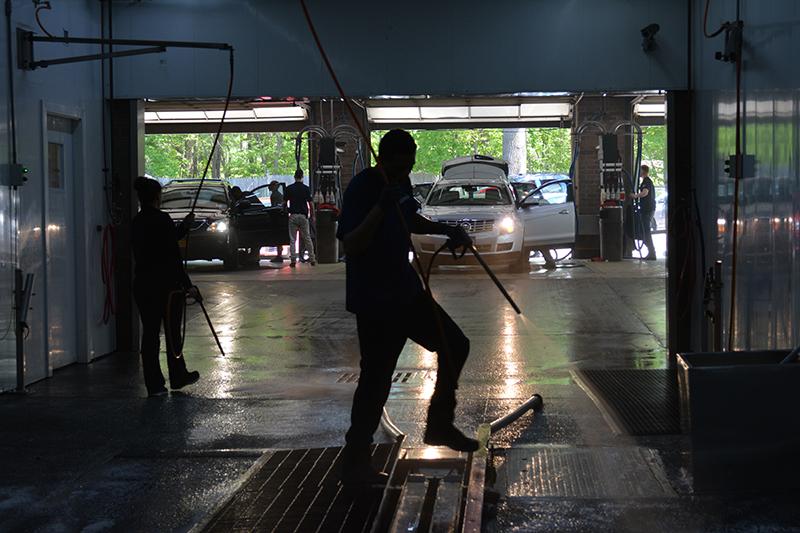 employees, team, carwash, tunnel
