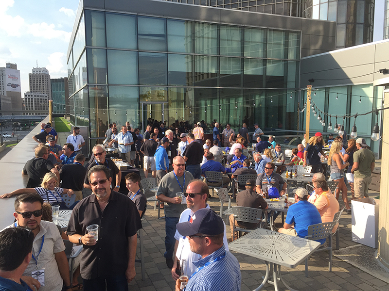 A welcome reception was hosted at The Volt Bar/Patio.