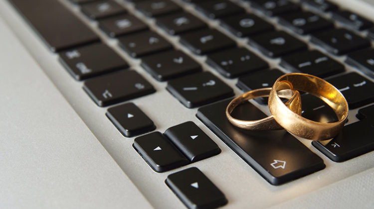 keyboard, computer, wedding rings, spouse, husband and wife, working with your spouse