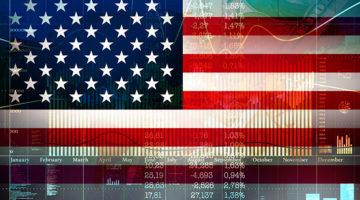 economy, American flag, stock market, money, economic impact
