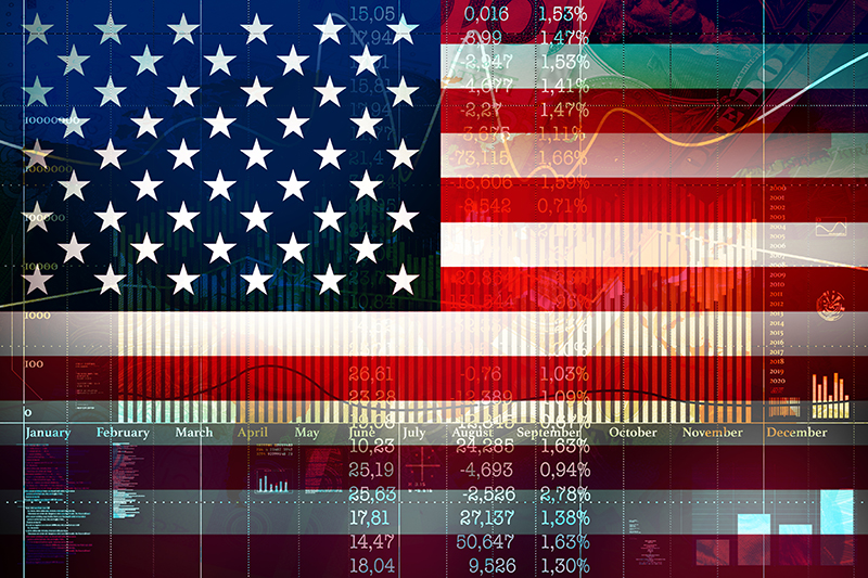 economy, American flag, stock market, money, economic impact