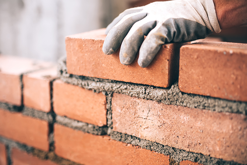 bricklayer, bricks, construction, building, cement