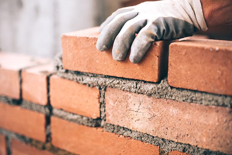 bricklayer, bricks, construction, building, cement