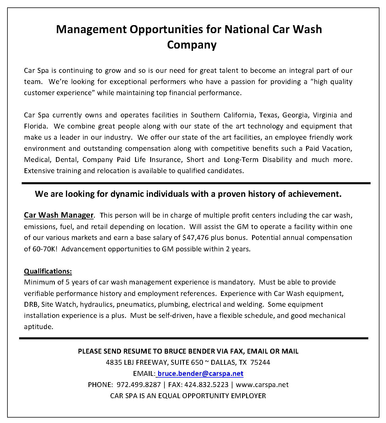 car wash manager sle resume cover letter is