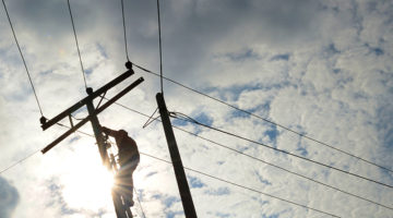 power lines, repair, power, electricity, worker