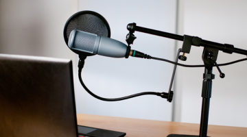microphone, headphones, studio, podcast, radio