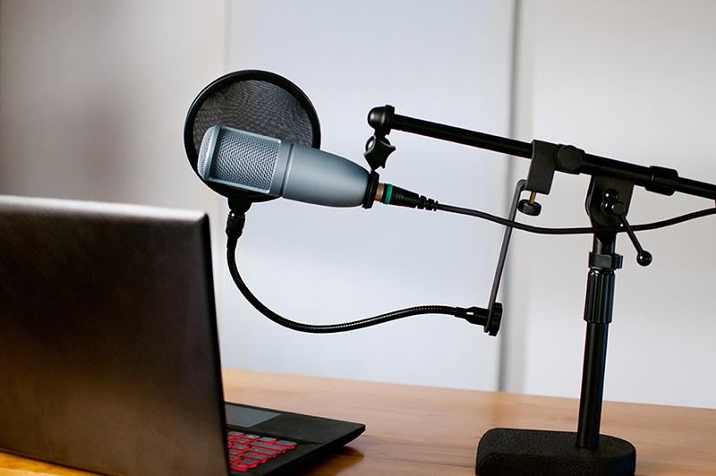 microphone, headphones, studio, podcast, radio