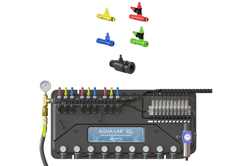 Aqua-Lab™ SDGEN2 Chemical Dispensing System and All-Composite Chem-Flex™ Chemical Injectors/Hydra-Flex Inc.