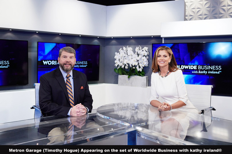 Metron Garage / Modernwash Appearing on the set of Worldwide Business with kathy ireland®