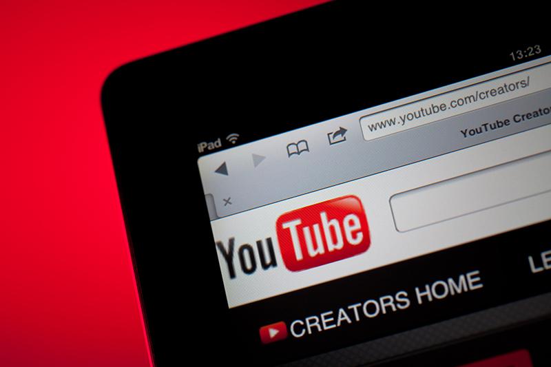 YouTube, social media, tablet