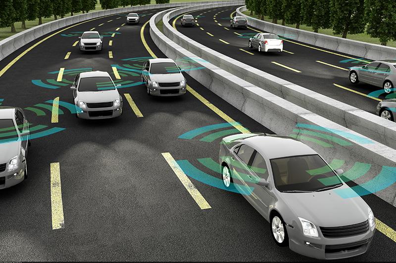 autonomous vehicles, concept, sensors, cars