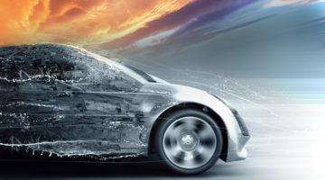 car, modernize, sunset, transformation
