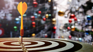 target, dartboard, holidays, Christmas trees, lights, holiday promotions, marketing