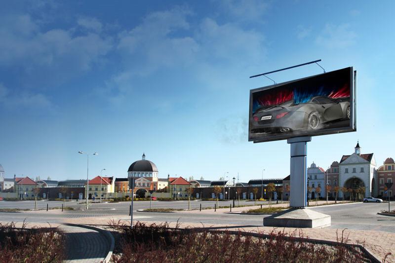 carwash signage, billboard, town, street, buildings