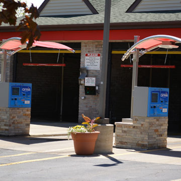 pay stations, POS systems, awning, in-bay automatic, carwash, touch-free