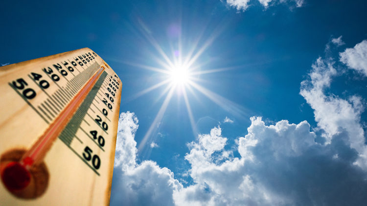 thermometer, warm temperatures, hot, sunny, mild