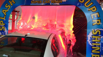 carwash arch, arches, foam, LED lighting, color, foam bath