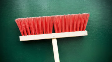 broom, push broom, handle
