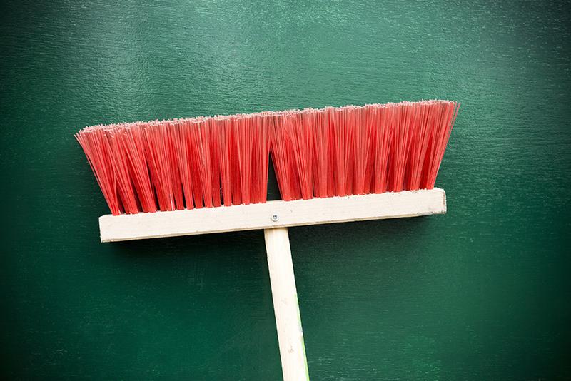 broom, push broom, handle