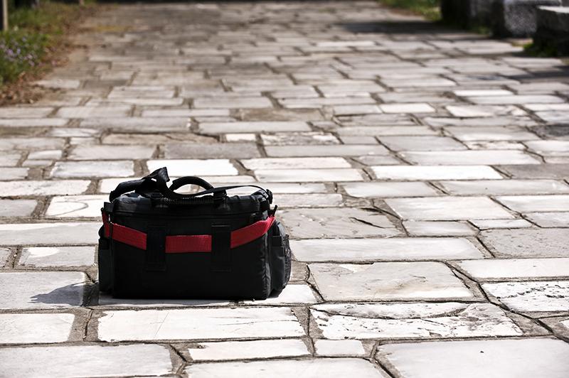 sports bag, ground, lost, stolen