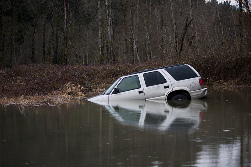 car, creek, water, SUV, vehicle, flooded