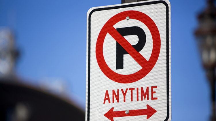 no parking anytime, sign