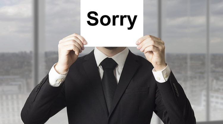 sorry, apology, protecting brand reputation, businessman