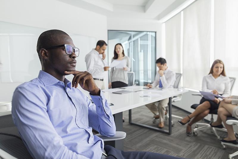 businessman, meeting, disruption, idea, office