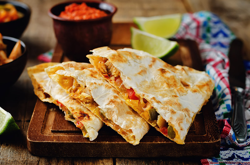 quesadillas, Mexican food, restaurant
