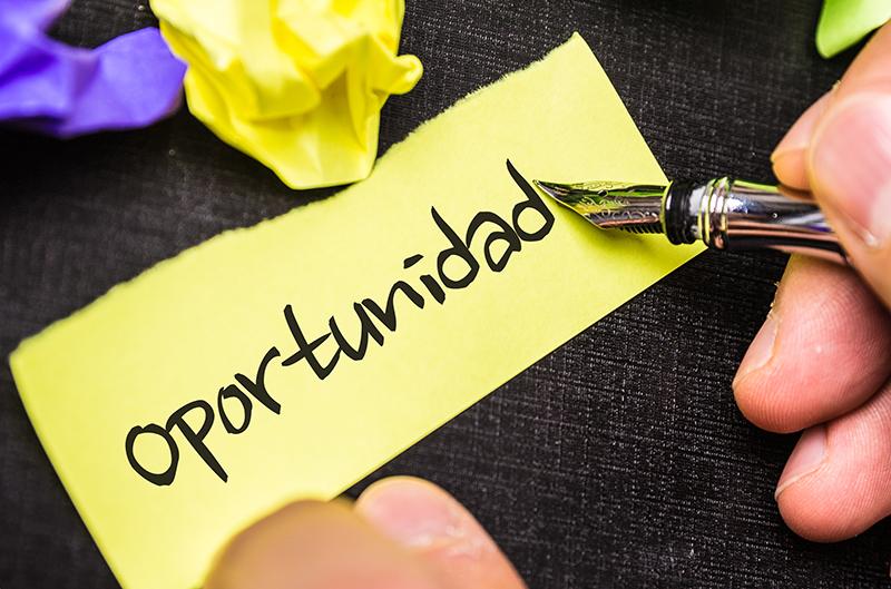 oportunidad, opportunity, Spanish, language