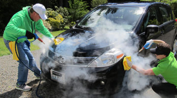 car, steam, steam cleaning, vapor, add-on services