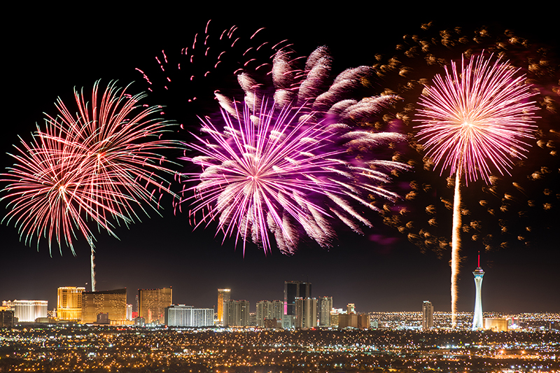 fireworks, event, Las Vegas, city