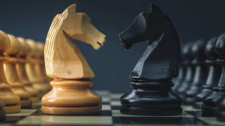 chess, knight, pawn, game, competition
