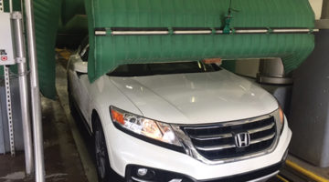 carwash dryer, tunnel exit, car, conveyor