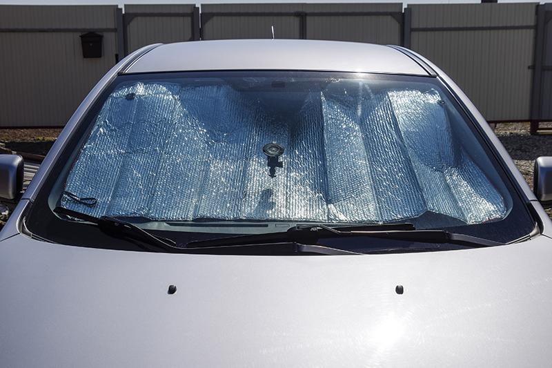 windshield visor, sun, summer, heat, car