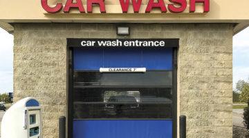 carwash door, doors, vinyl, POS system, kiosk, in-bay automatic, tunnel