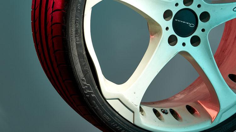 tire, pothole, damage, rim