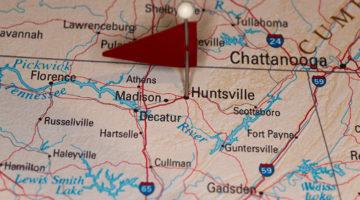 Huntsville, Alabama, map