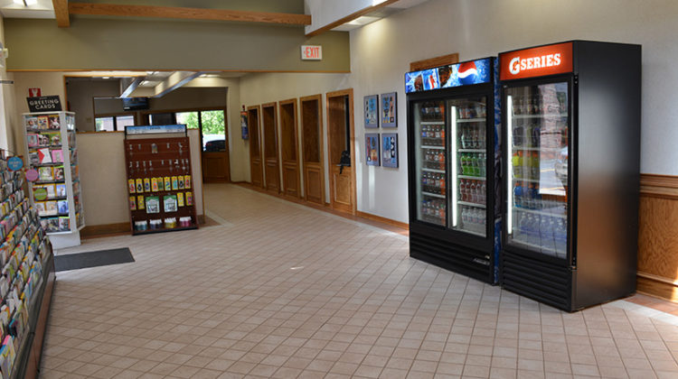 waiting room, vending machines