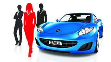 women, car