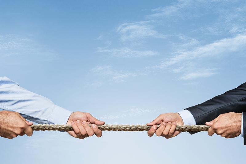 tug of war, competition, businessmen, hands
