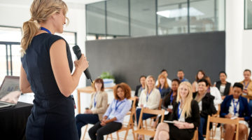 conference, women, speaker, presentation