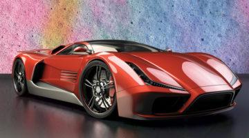 sports car, foam, bubbles, chemicals