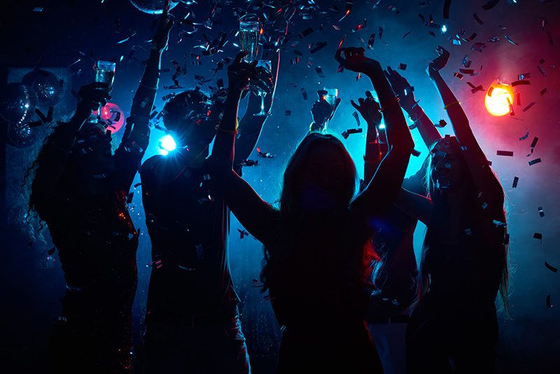 party, parties, dancing, clubbing, people, drinks, confetti